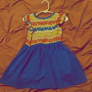 Cat & Jack- 2T Multicolored Heart Dress